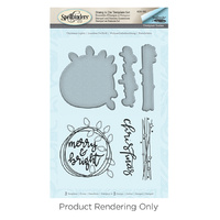 Spellbinders Stamp & Die Set Merry & Bright by Stephanie Low