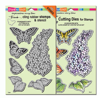 Stampendous Die & Stamp Combo Lilac Posies