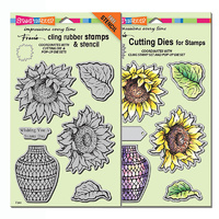 Stampendous Die & Stamp Combo Sunny Vase