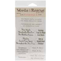 Art Gone Wild Words to the Rescue Clear Stamps Christmas #2
