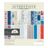 "Authentique 6x6"" Double Sided Cardstock Pad Seafarer 24pg"