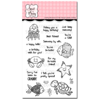 "Sweet 'n Sassy Clear Stamp 4x6"" Happy Ocean Friends"