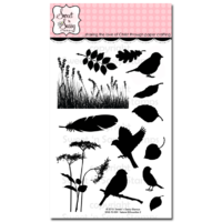 "Sweet 'n Sassy Clear Stamp 4x6"" Nature Silhouettes 2"