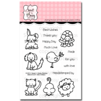 "Sweet 'n Sassy Clear Stamp 3x4"" Mini Critters"