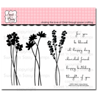 "Sweet 'n Sassy Clear Stamp 4x6"" Long Stem Silhouettes"