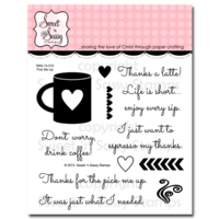 "Sweet 'n Sassy Clear Stamp 4x4"" Pick me Up"