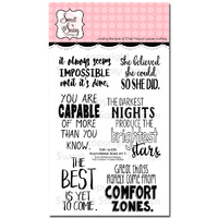 "Sweet 'n Sassy Clear Stamp 4x6"" Inspirational Word Art 2"