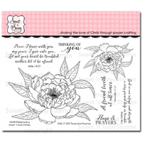 "Sweet 'n Sassy Clear Stamp 4x6"" Peaceful Peonies"
