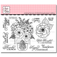 "Sweet 'n Sassy Clear Stamp 4x6"" Mason Jar Bouquet"