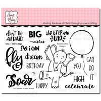 "Sweet 'n Sassy Clear Stamp 4x6"" Fly High"