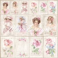 "Maja Design 12x12"" Double Sided Cardstock Sofiero Ephemera"