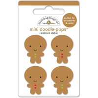 Doodlebug DoodlePops 3D Stickers Sugarplums Jolly Gingerbread