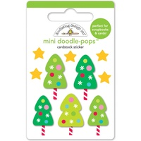 Doodlebug DoodlePops 3D Stickers Sugarplums Tiny Trees