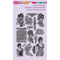 Stampendous Cling Stamps Vintage Ladies