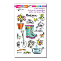 Stampendous Perfectly Clear Stamps Garden Boots