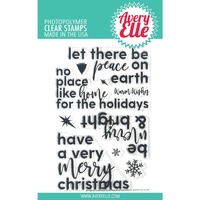 Avery Elle Clear Stamp Corner Sentiments Holiday