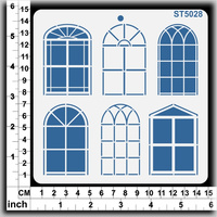 Scrapmatts Stencil Windows 14.5x14.5cm