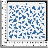 Scrapmatts Stencil Triangles 14.5x14.5cm