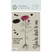 Studio Light Veer& Moon Flower Language A6 Stamp Chrysanthemu m stands for Cherishing