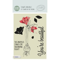 Studio Light Veer& Moon Flower Language A6 Stamp Amaryllis Stands for Beauty