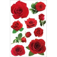 Paper House 3D Stickers Red Roses