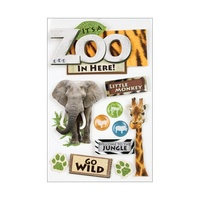 Paper House 3D Stickers Zoo