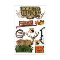 Paper House 3D Stickers Born to Hunt