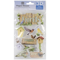Paper House 3D Stickers For the Birds
