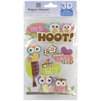 Paper House 3D Stickers You're a Hoot