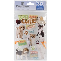 Paper House 3D Stickers Dog Gone Cute
