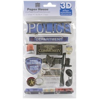 Paper House 3D Stickers Police