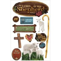 Paper House 3D Stickers The Lord is My Shepherd