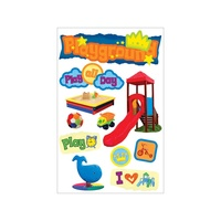 Paper House 3D Stickers Playground