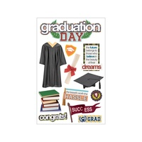 Paper House 3D Stickers Graduation