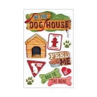 Paper House 3D Stickers Dog