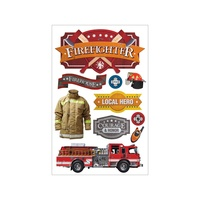 Paper House 3D Stickers Firefighter