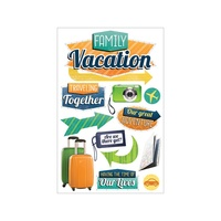 Paper House 3D Stickers Family Vacation