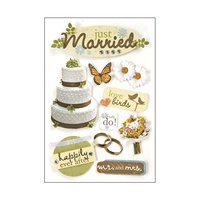 Paper House 3D Stickers Just Married