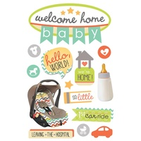 Paper House 3D Stickers Welcome Home Baby