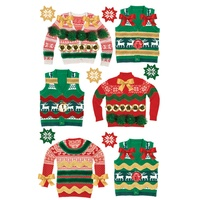Paper House 3D Stickers Ugly Sweaters