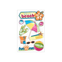 Paper House 3D Stickers Life's A Beach