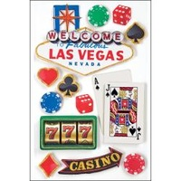 Paper House 3D Stickers Las Vegas
