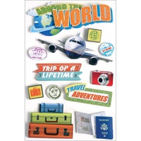 Paper House 3D Stickers World Traveller
