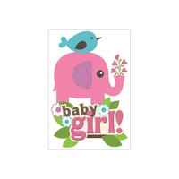 Paper House 3D Stickers Baby Girl Scene