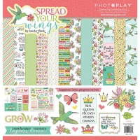 "PhotoPlay Paper Spread Your Wings 12x12"" Collectio Kit with Sticker Sheet"