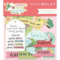 Photoplay Paper Spread Your Wings Cardstock Diecuts 30pc