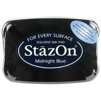 Tsukineko StazOn Solvent Ink Pad Midnight Blue