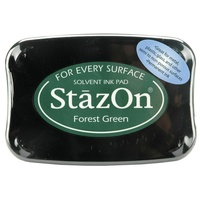 Tsukineko StazOn Solvent Ink Pad Forest Green