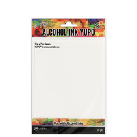 "Ranger Alcohol Ink Yupo Paper Translucent 5x7"" 10pk by Tim Holtz"