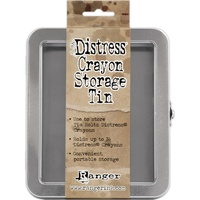 Ranger Distress Crayon Tin Empty by Tim Holtz